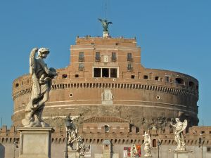 Castel Sant Angelo Rome Castel Sant Angelo from Ponte Sant Angelo. Hadrians Mausoleum converted to Fortress and residence for the Renaissance Popes sxc.hu